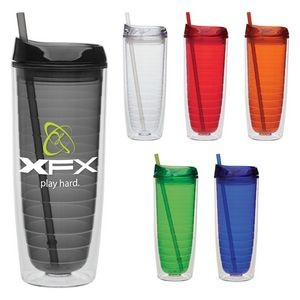 20 Oz. Cool Cup Collection w/Color Matching Lid & Straw